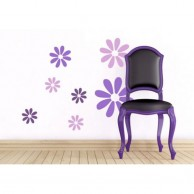 12 Flowers Wall Stickers