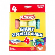 4 Count Giant Sidewalk Chalk 11119G