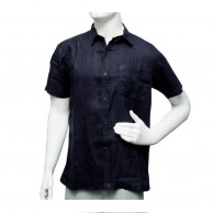 Ice Shirt Short Sleeve - Black with White Line