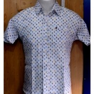 Multicolor Mix Dotted Linen Men Shirt