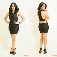 Black bodycon mini dress - 22245