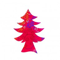 Pack Of 10 Dark Pink Designed Christmas Decoration Tree Stickers