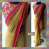 Bollywood Soft Net Plain Saree SR1457