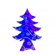 Pack Of 10 Dark Blue And Gold Christmas Decoration Tree Stickers