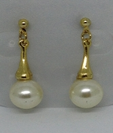 whiter Pearl Gold Plated Women Earring