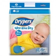 Drypers  Baby Diapers Wee Wee Dry New born 28 Pcs