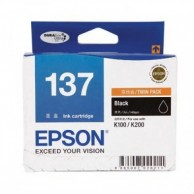 Epson 137 Ink Cartridge Black Twin Pack 20000394