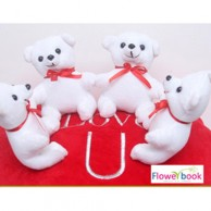 Small teddy bear with pillow ST006