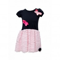 Two Butterfly Designed Girl Dress