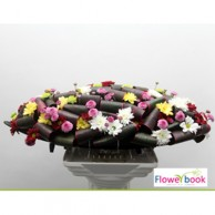Mix Color Chryshanthimum Oval Shape Flower Arrangement BD021