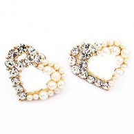 1 Pair of Crystal Rhinestone Earrings Fashion Jewellery E 008
