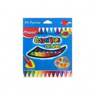 MAPED OIL PASTELS 24 COLOR PEPS MACP016