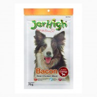 Jerhigh Chicken Bacon Dog Snacks 70g BACON70