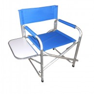 CLOTH FOLDING CHAIR WITH SIDE TABLE