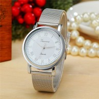 Fashion Geneva Silver Watch W 0411
