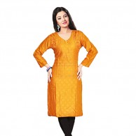 Yellow Simple Cotton Kurti