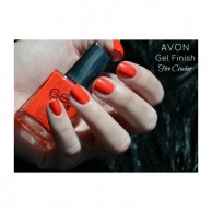Gel Finish Nail Enamel Fire Cracker Avon 102