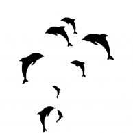 Dolphins Wall Stickers Black
