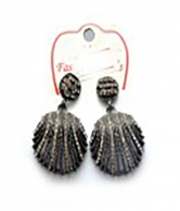 Grey Stoned Fashion Earrings For Ladies