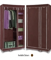 Foldable Cloth Cupboard With Shelves