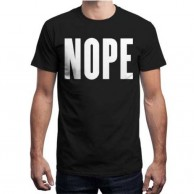 Nope Black T shirt for Men