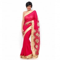 Bollywood Mandira Rose Red Saree  SR1443