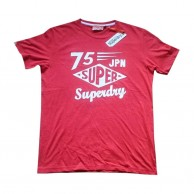 Superdry Red Printed T Shirt