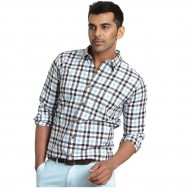 Collar Shirt Light Blue and Black Check
