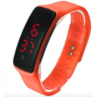 LED Waterproof Wrist Watch Orange