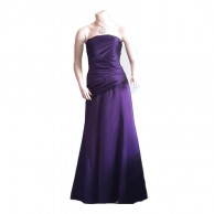 Dark Purple Top Frills Long Frock