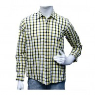 Black And Yellowish Check Shirt