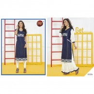 New desire Ethnic Indian Denim Kurta Kurti Top Dress Kurthi Kurtha 8306