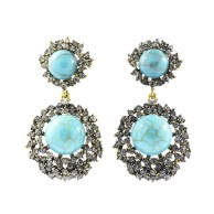 Turquoise Jewel Crusted Earring ERGTJC