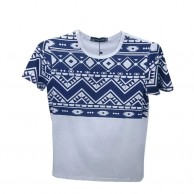 Aztec Print Grey T Shirt