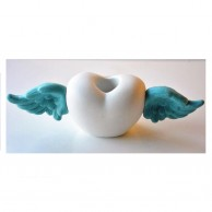 Heart With Wings Candle Holder