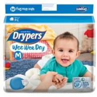 Drypers Baby Diapers Wee Wee Dry Medium 80 Pcs