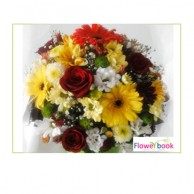 Red Roses with Mix Gerberas Flower Arrangement BD018