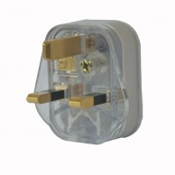 Plug Tops 13Amp Plug top Transparent Polycrome MP036