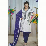 Holiday  Cotton Embroidered Shalwar Material 002