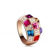 Women's MultiColour Crystal Ring