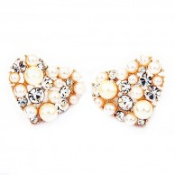 1 Pair of Crystal Rhinestone Earrings Fashion Jewellery E 007