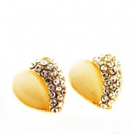 1 Pair of Crystal Rhinestone Earrings Fashion Jewellery E 004