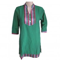 Handloom Ladies Green Kurti