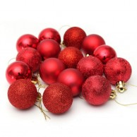 X Mas Bauble Small Balls Red