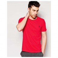 Men's Red Crew Neck T Shirt
