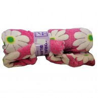 Pink Flower Decorate Blanket