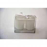 Medium White Candle Holder