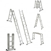 Adjustable Ladder 5 7 M With Plate