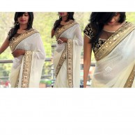 Bollywood White Saree SR1380