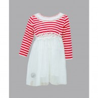 Red Strips Girl Frock